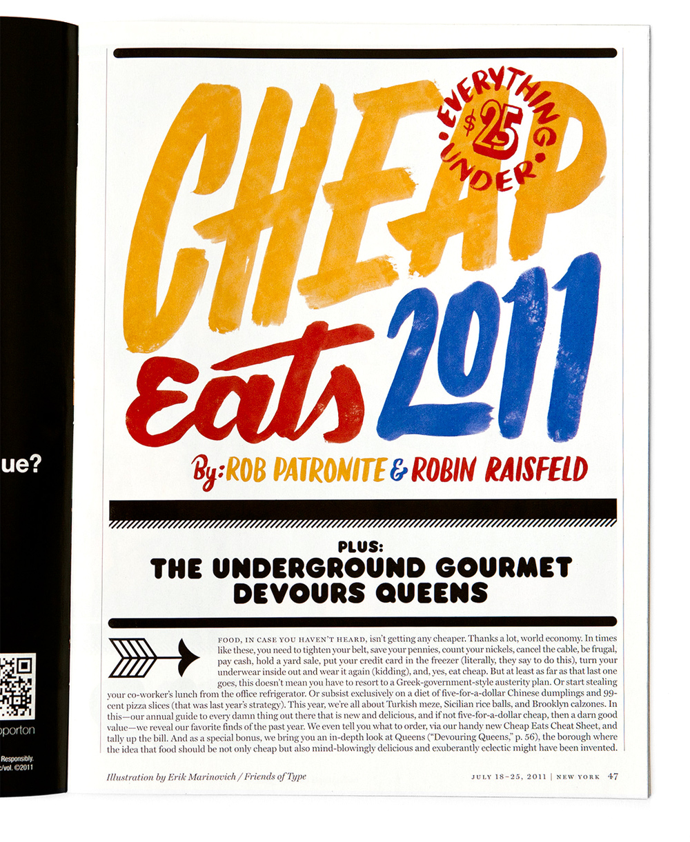 Cheap Eats – New York Magazine | Erik Marinovich